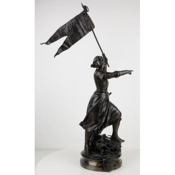 Jeanne d'Arc menant ses soldats au combat - Adrien Gaudez