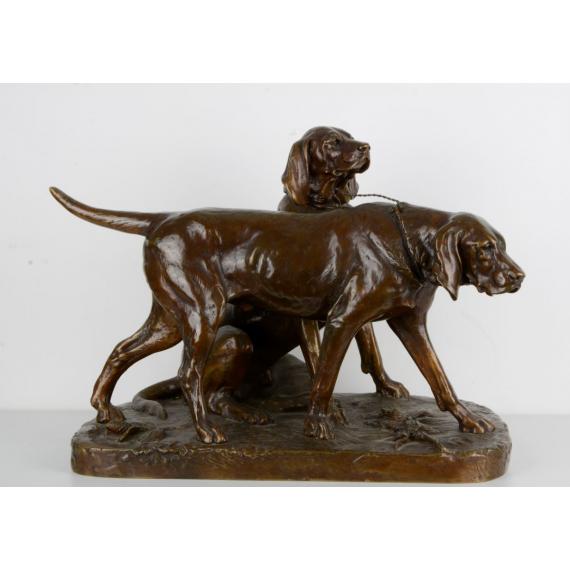 Fanfaraut et Brillador, chiens de chasse