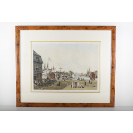 Le vieux bassin à Honfleur - Ambroise Garneray