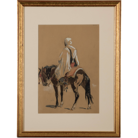 Cavalier arabe de dos