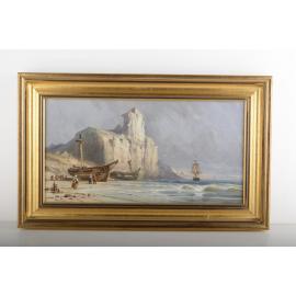 Falaises au bord de la mer - Edwin Hayes