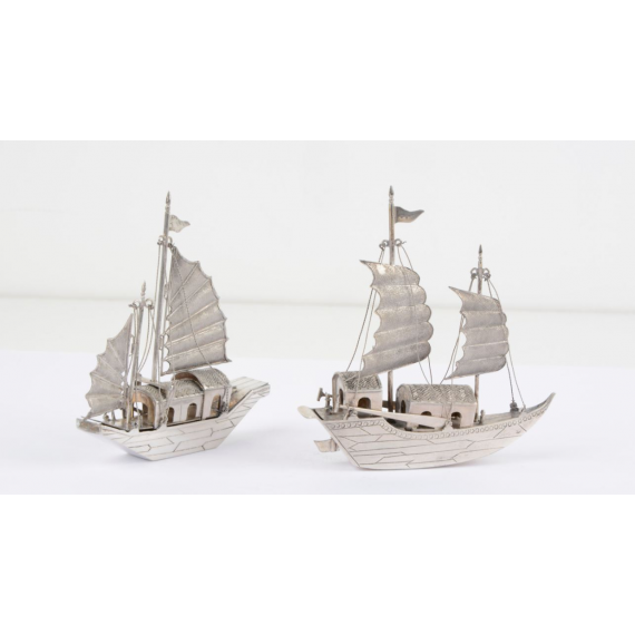 Duo de Jonques miniatures