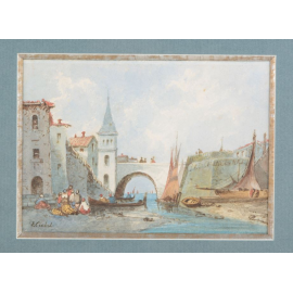 Pont aux barques - E. Cicéri