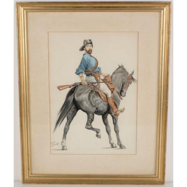 Mounted Kiwi Riffleman - E. Keller